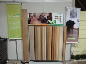 Pisos Laminados Floorest no stand da Gasômetro Madeiras na Construvale 2010