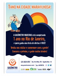 A Gasômetro Madeiras completa 1 ano no Rio de Janeiro!