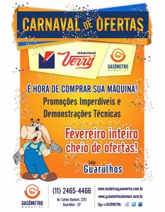 Carnaval de Ofertas Máquinas Verry