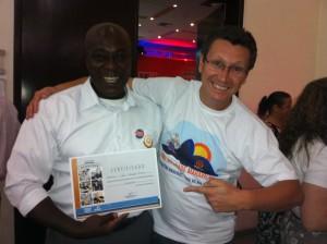 Nosso Super Consultor de Vendas Henrique e o Gestor da Unidade de Pouso Alegre Rogério na Premiação.