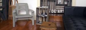 Cadeira em Valchromat cinza