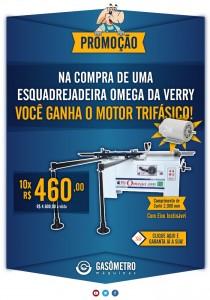 Promoção de Esquadrejadeira Omega da Verry