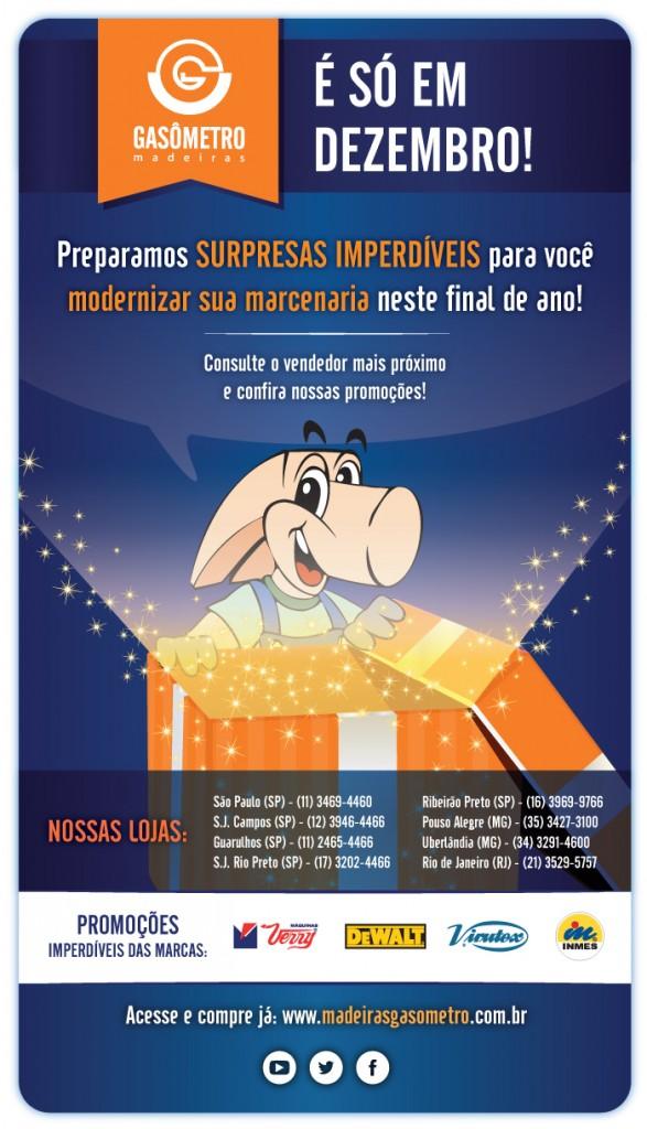 Promoção Dezembro na Gasômetro Madeiras