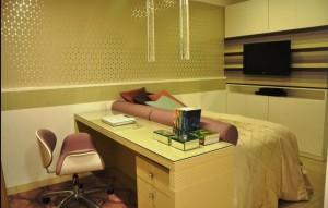 Outra concepção de cama-escrivaninha, mostrando que a criatividade é o limite