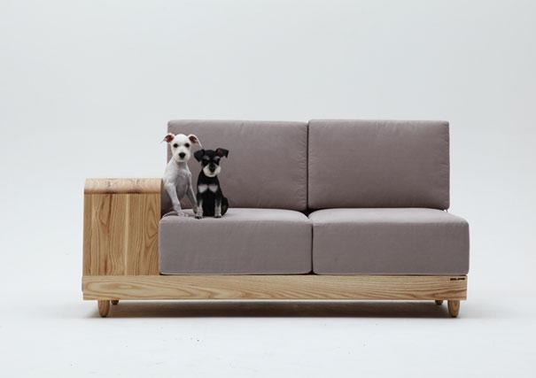 O sofá é pequeno, mas seu cão tem lugar reservado!